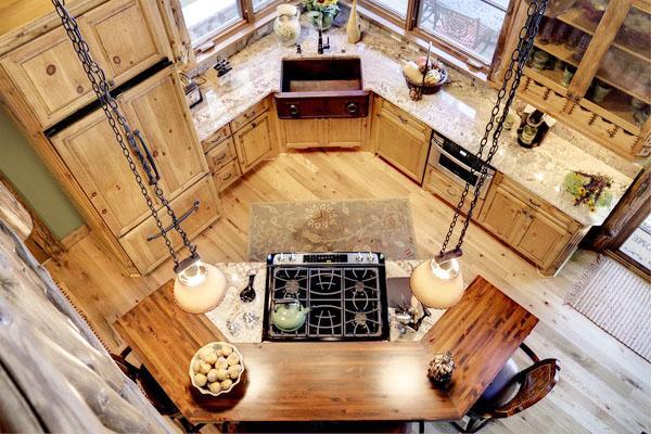Угловая раковина н кухне