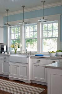 Кухонные окна белый дизайн