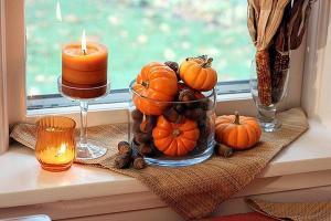 Осенние декоративные окна декоративные тыквы