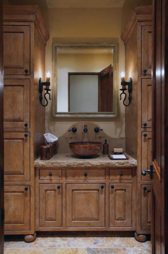 Ванная комната Рустики стиль свеча лампа бра деревянное тщеславие