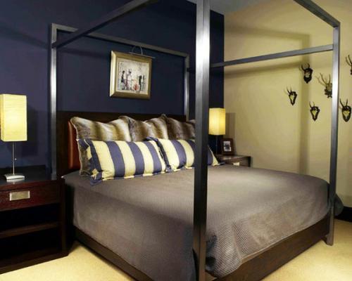 серый коричневый цвет современная спальня