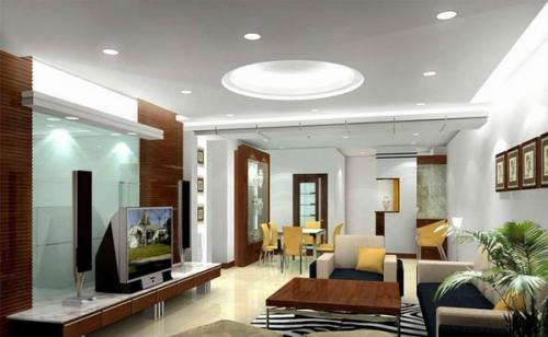 современные идеи освещения гостиной